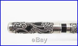 1900s Betzler & Wilson STERLING SILVER Filigree Overlay Eyedropper Fountain Pen