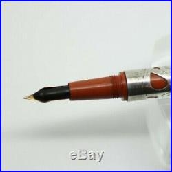 1910 BRIGGS Fountain Pen Sterling Silver Filigree RED HARD RUBBER Rare NY Maker