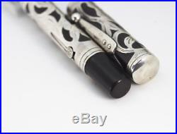 1915-17 WATERMAN 415 PSF Fountain Pen Sterling Silver Filigree Overlay #5 Nib