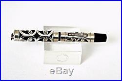 1920 Morrison Sterling Silver Flower Pattern Filigree Bhr Gold Nib Fountain Pen