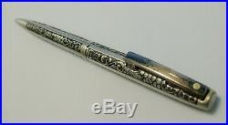 1970 Sheaffer Vintage Embossed Grape & Leaf Sterling Silver Ballpoint Pen