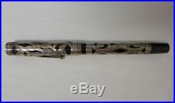 A8 Waterman #12 Filigree Sterling Silver Fountain Pen