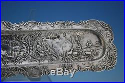 ANTIQUE STERLING SILVER LONG PEN TRAY ON FEET IMPORT MARKS SHEFF 1897 110g