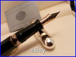 AURORA 88 Sterling Silver. 925 Cap Large Medium 18K Gold NIB Fountain Pen