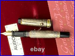 AURORA CARLO GOLDONI Limited Edition Sterling Silver Fountain Pen INKED ONCE
