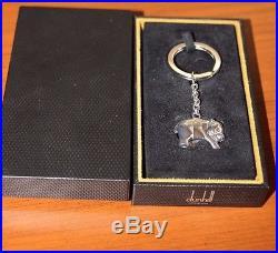 Alfred Dunhill PANDA 925 Sterling Silver Keyring Keychain Keyfob NEW in BOX