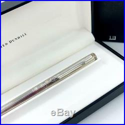 Alfred Dunhill Sterling Silver Line Design 5.5 Fountain Pen Nib 18k 750