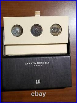 Alfred Dunhill Sterling Silver yes/no trick coins
