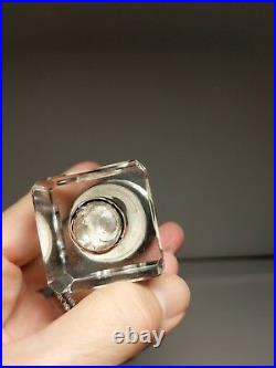 Antique French Minerva Sterling AF Vexlard Rambervillers Inkwell Pen Wax Seal