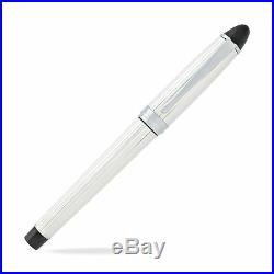 Aurora Ipsilon Silver Fountain Pen Sterling Silver Fine Point B14-F