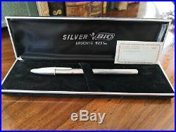 BIC sterling silver ball pen commemorative rare ballpoint cristal collectible