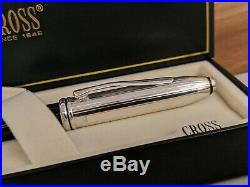 CROSS Townsend Sterling Silver Cap Rollerball Pen, NOS