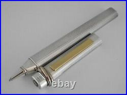 Cartier Vendome Sterling Silver 925 GT Ballpoint Pen FREE SHIPPING WORLDWIDE