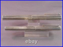 Cartier Vintage Sterling Silver Fountain Pen + Fiber Tip Pen-Waterman Concordia
