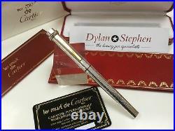 Cartier les must de Cartier Trinity sterling silver fountain pen NEW