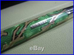 Chopard 925 Sterling Silver 18K Gold Green Coral Limited Edition Fountain Pen