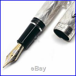 Classic Pens Limited Edition CP8 Flamme Ag925 Sterling Silver 18K Fountain Pen
