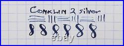 Conklin Crescent-filler Sterling filigree