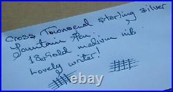 Cross Townsend Sterling Silver Fountain Pen Rare Looook