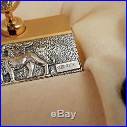 DELTA VENEZIA Sterling Silver Limited Edition 18K Nib Fountain Pen with Pen Stand