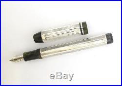 Delta Profili Sterling Silver Green Limited Broad Nib Fountain Pen New In Box
