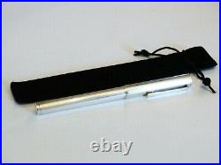 Dunhill Fountain Pen In Solid Sterling Silver 925 With 14k Gold F Nib -near Mint