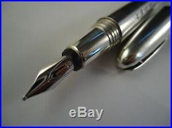 Dunhill Torpedo Ballpoint & Dipping Fountain Pen 925 Silver Hallmarks Cased