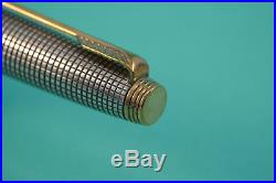 Early PARKER 75 Sterling Silver Ciselé Fountain pen flat tassie PERFECT