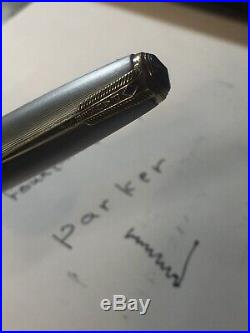 Excellent Parker 51 Fountain Pen Nib 14k Gold, Cup Sterling Silver
