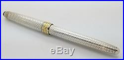 FOUNTAIN PEN MONTBLANC MEISTERSTUCK GOLD SOLITAIRE STERLING SILVER 146 14k nib