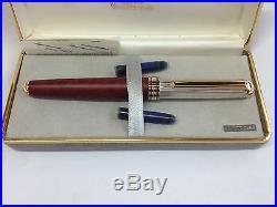 Ferrari da Varese Sterling Silver Fountain Pen- Showroom Sample 1980's Vintage