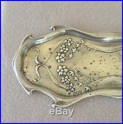Fine Edwardian 1903 Charles Henry Dumenil Art Nouveau Sterling Silver Pen Tray