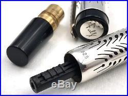 Fine Parker Duofold Michael Fultz Sterling Silver Overlay Fountain Pen 18k Le/88