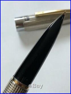 From JapanPILOT Fountain Pen ELITE STERLING SILVER VINTAGE 1972 18K Nib F