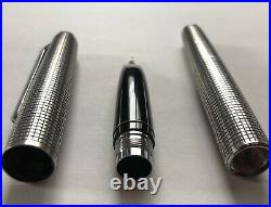 From JapanPILOT Vintage Fountain Pen CUSTOM STERLING SILVER 1971 18K Nib M