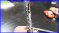 G PARKER Cisele Classic 75 Sterling Silver Fountain Pen + Pencil Set 14K Nib