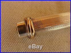 Genuine CARTIER Vendome Sterling Silver 925 Fountain Pen, Box