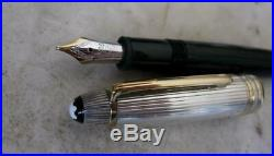 Gorgeous Scarce Montblanc Meisterstuck 146 Doue Sterling Silver 925 Fountain Pen