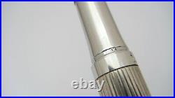 Gorgeous Waldman Fountain Pen, Sterling Silver, Firm Medium Nib, Germany