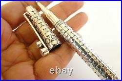 Handmade Mother of Pearl 925 Sterling Silver Ballpoint Writing Pen