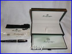 INK PEN Montegrappa 1912 Ballpoint Pen withBox Paperwork Sterling Silver Italy