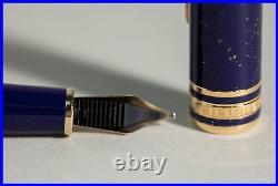 Lapis Lazuli RAMSES II Montblanc Masterpiece 144 Fountain Pen Broad 18K nib