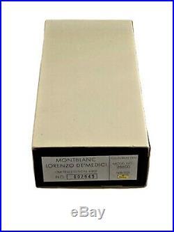 Legendary Mint Montblanc Lorenzo De Medicis Patron Of Art Le Fountain Pen 1992