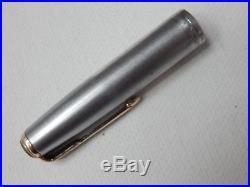 Lot #95s. Parker 51 Fountain Pen. Sterling Silver Cap, Works