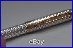 Lovely Rare Vintage Waterman Man 100 Sterling Silver Hallmarked Fountain Pen