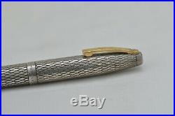 Lovely Vintage Sheaffer Imperial Fountain Pen Sterling Silver Pattern Working