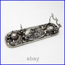 Loves Dream Inkwell Pen Holder Unger Bros Sterling Silver 1904