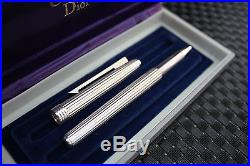 MINT Christian DIOR Solid Sterling Silver Roller Pen, Box, Hallmarked 925