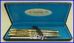 MINT Vermeil Sterling Silver Cisele Parker 75 Fountain Pen, Ballpoint, Pencil