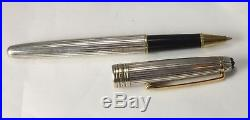 MONTBLANC 163 Solitaire Pinstripe Sterling Silver Rollerball Pen